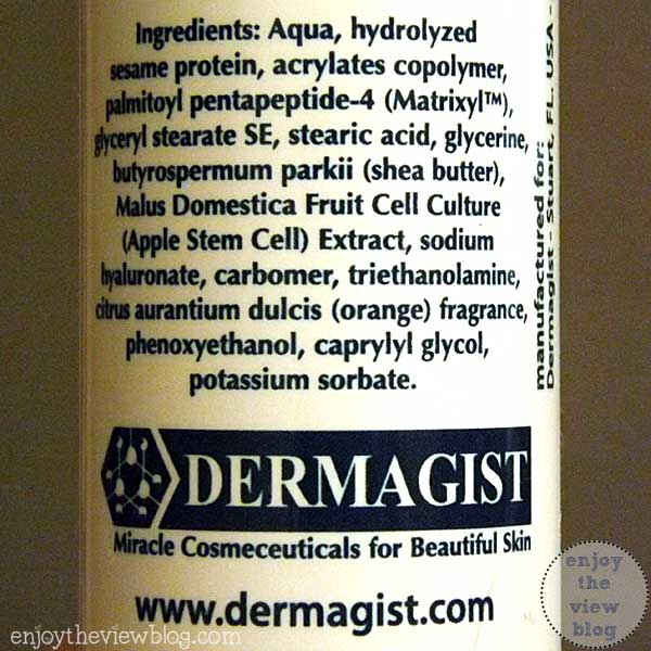 dermagist neck cream label