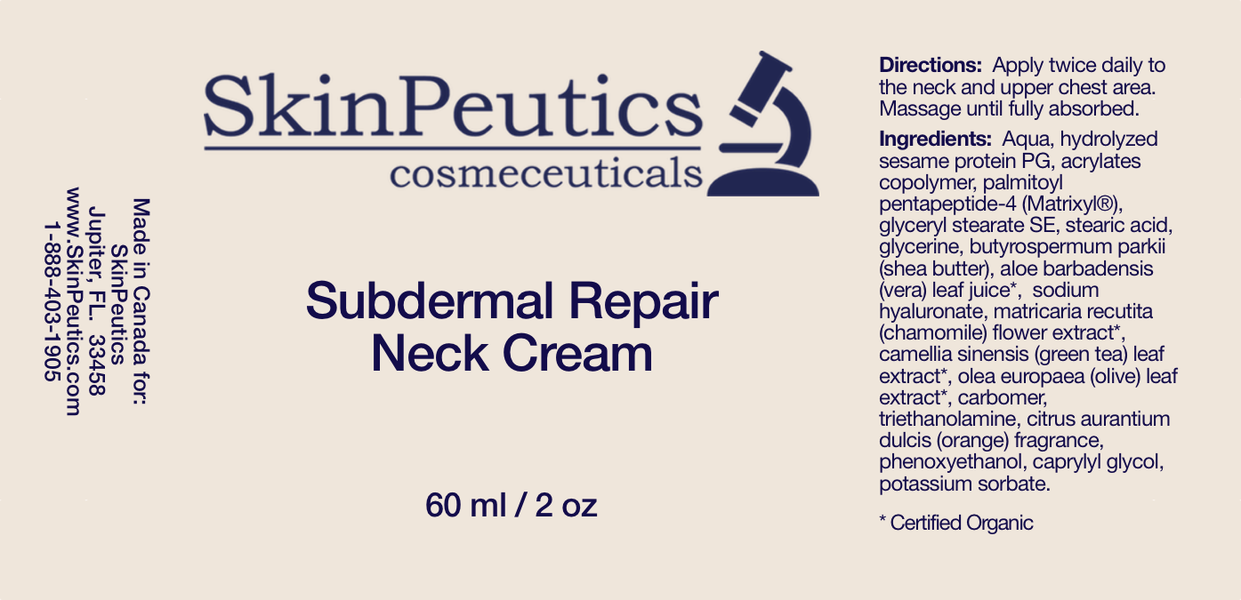 skinpeutics neck cream label